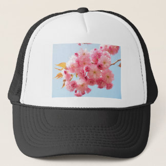 Pink Japanese Cherry Blossom Photograph Trucker Hat