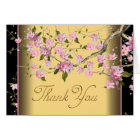 Pink Japanese Cherry Blossoms Thank You Cards