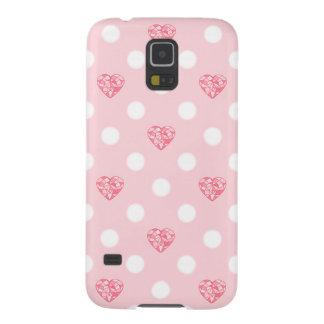 Pink Jewel Heart Moon Pattern Galaxy S5 Covers