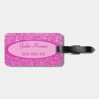 Pink Jewel Luggage Tag