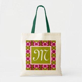 Pink Jewel Pattern Tote Bag