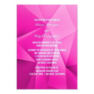 Pink Jewel Tones Wedding Invitation