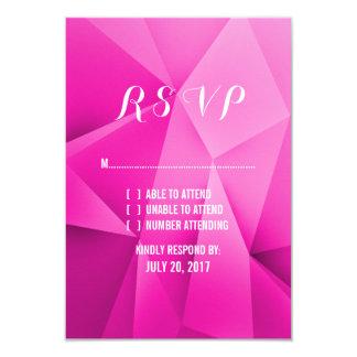 "Pink Jewel Tones Wedding RSVP Card 3.5"" X 5"" Invitation Card"