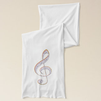 Pink Jeweled Music Treble Clef Scarf