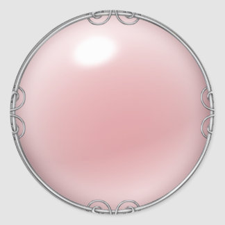 Pink Jewelled Pearl Stickers