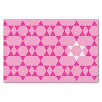 Pink Jewish Star tissue paper