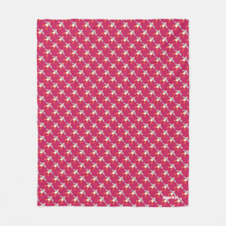 Pink John Dyer Seagull repeat Fleece Blanket