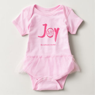"Pink joy kanji inside enso circle ""Joy"" tutu Baby Bodysuit"
