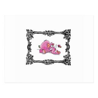 pink jumbo in box postcard