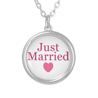 Pink Just Married Custom Jewelry