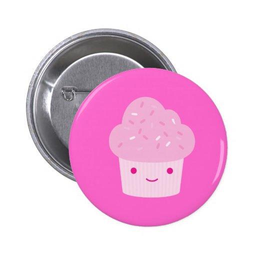 Pink Kawaii Cupcake Pins