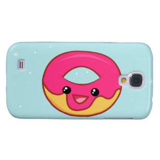 Pink Kawaii Donut, Cute Food Galaxy S4 Cover