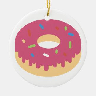 Pink Kawaii Doughnut Christmas Ornament