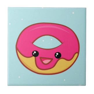 Pink Kawaii Doughnut, Cute Food Tile