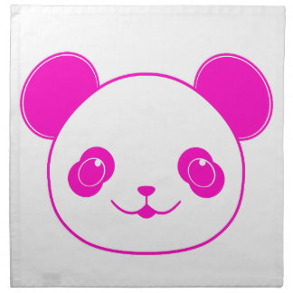 Pink Kawaii Panda Bear Napkin