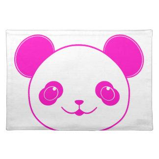 Pink Kawaii Panda Bear Placemat