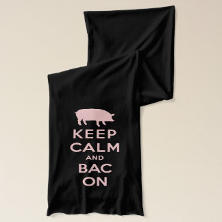 Pink keep calm and bacon scarf