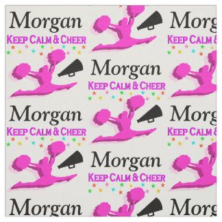 PINK KEEP CALM AND CHEER CUSTOM FABRIC