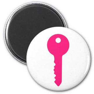 Pink Key Magnet