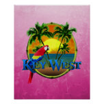 Pink Key West Sunset Poster