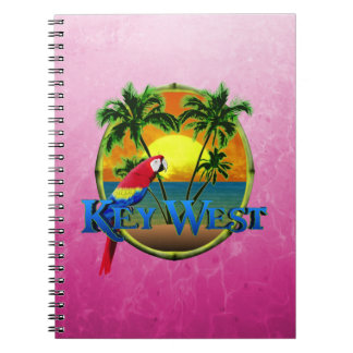 Pink Key West Sunset Spiral Notebook