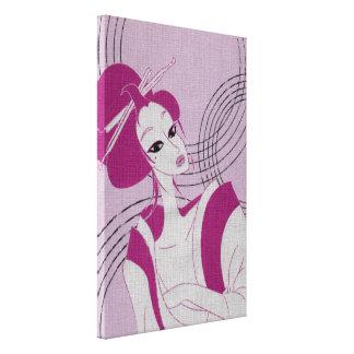 Pink Kimono Canvas Print