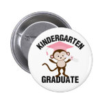 Pink Kindergarten Graduate Pinback Buttons