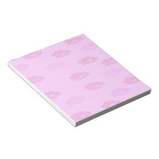 Pink Kisses Notepad