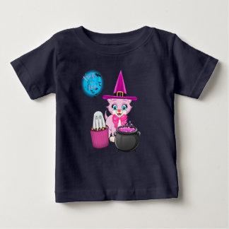 Pink Kitten Halloween Cartoon Baby T-Shirt