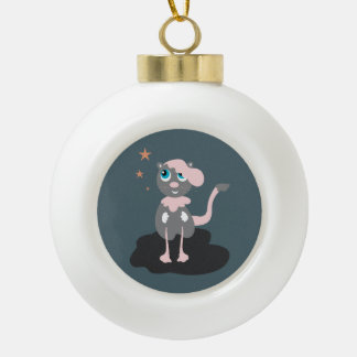 Pink Kitty Ornaments