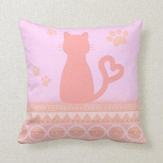 Pink Kitty Pillow