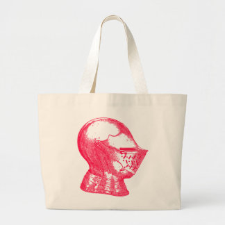Pink Knight Medieval Armor Helmet Knights Large Tote Bag