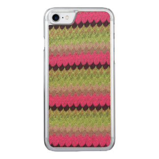 Pink Knit Green Black Wave Crochet Knitted Weave Carved iPhone 8/7 Case