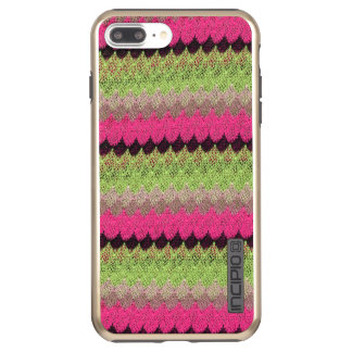 Pink Knit Green Black Wave Crochet Knitted Weave Incipio DualPro Shine iPhone 7 Plus Case