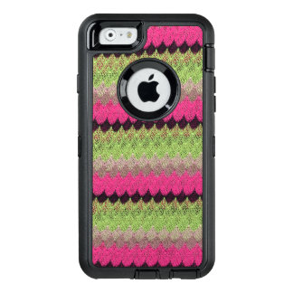 Pink Knit Green Black Wave Crochet Knitted Weave OtterBox iPhone 6/6s Case