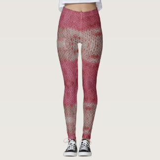 Pink Knitted Leggings
