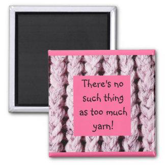 Pink Knitting Theme Fridge Magnet