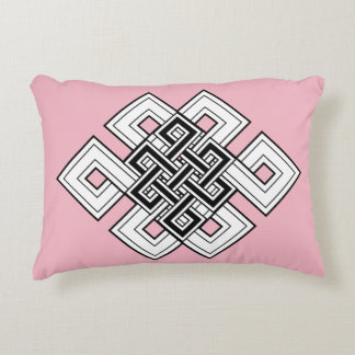 Pink Knot Brushed Polyester Pillow