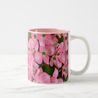 Pink kousa dogwood coffee mug