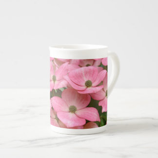 Pink kousa dogwood flowers tea cup