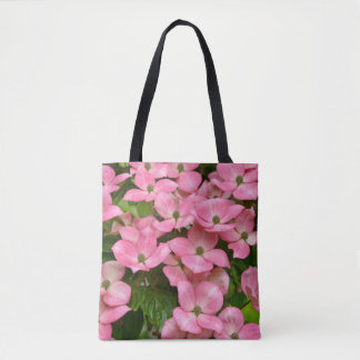 Pink kousa dogwood flowers tote bag