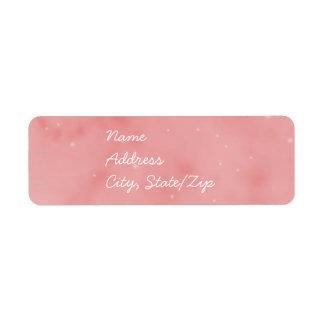 Pink Label - Pink Sky Return Address Label