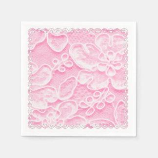 Pink Lace Disposable Napkins