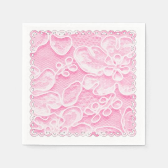 Pink Lace Disposable Napkins