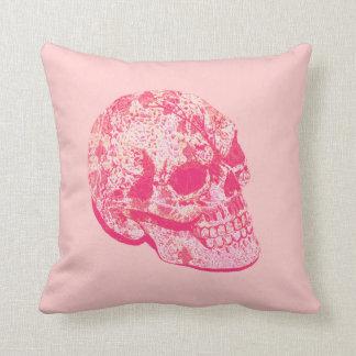 pink lace sugar skull pillow