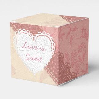 Pink Lacey Thank You Cupcake Box Favor Box