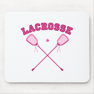 Pink Lacrosse Logo Mouse Pad