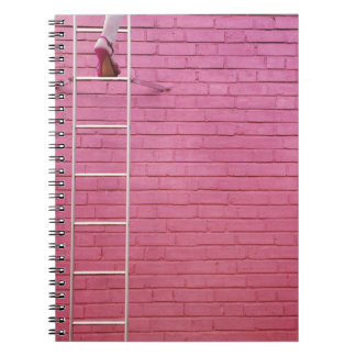 Pink Ladder to Success Notebook