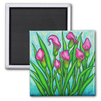 Pink Ladies - Calla Lily  Floral Magnet