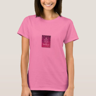 Pink ladies t-shirt keep calm and sparkle
